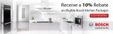 Bosch, Receive a 10% Rebate on Eligible Bosch Kitchen Packages.