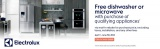 Receive a free Electrolux dishwasher with qualified purchase