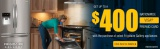 Frigidaire Gallery Get up to $400 prepaid card with the purchase of select Frigidaire Gallery appliances.