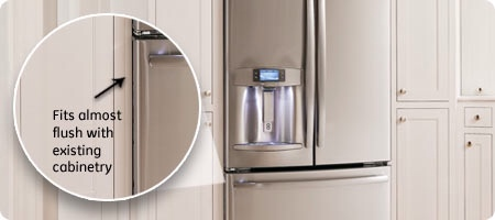 French Door Counter Depth Refrigerators Offer The Benefit Of A Near Flush Earance With 24 Deep Cabinets 25 Countertops These