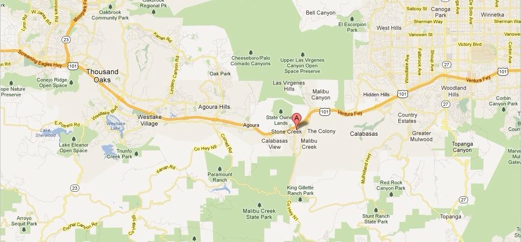 Calabasas Area Map