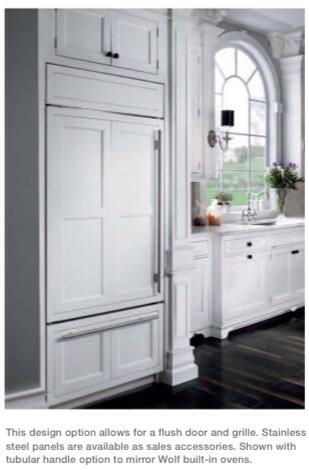 refrigerator handles for custom panels. sub zero overlay panels and flush with inset installation refrigerator handles for custom