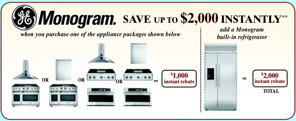 GE Monogram Instant Savings