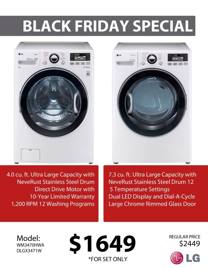 LG White Laundry Pair