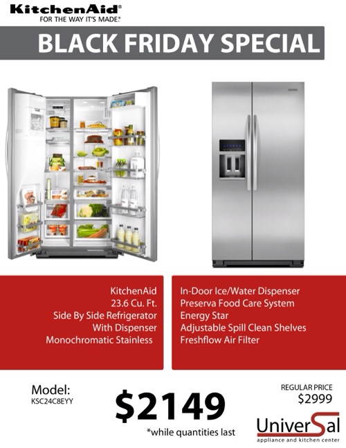 Kitchenaid Black Friday Specials Universal Appliance And
