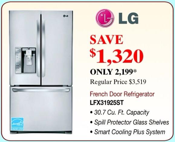 LG Refrigerator Sale