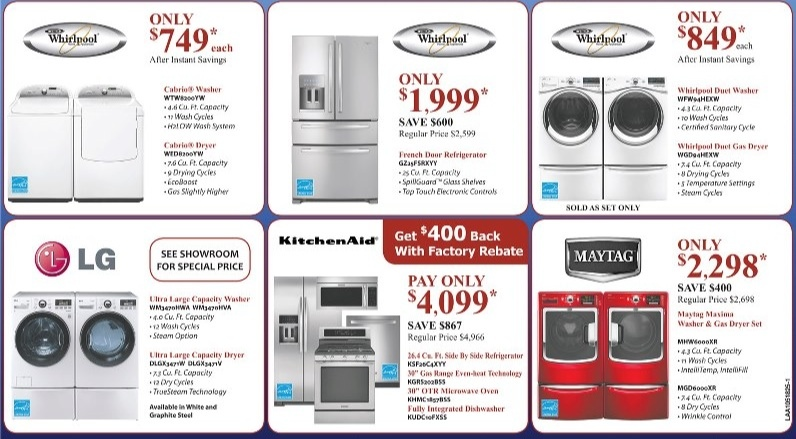 UAKC Appliance Clearance
