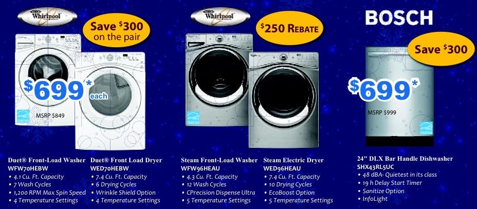 Washers and Dishwashers
