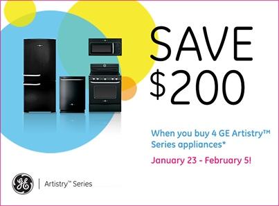 GE Artistry Series Rebate
