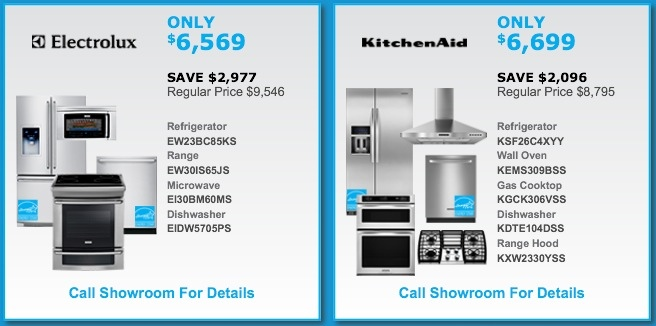 Electrolux and Kitchenaid Package