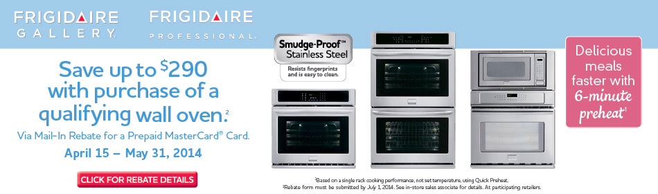 Frigidaire Oven Rebate