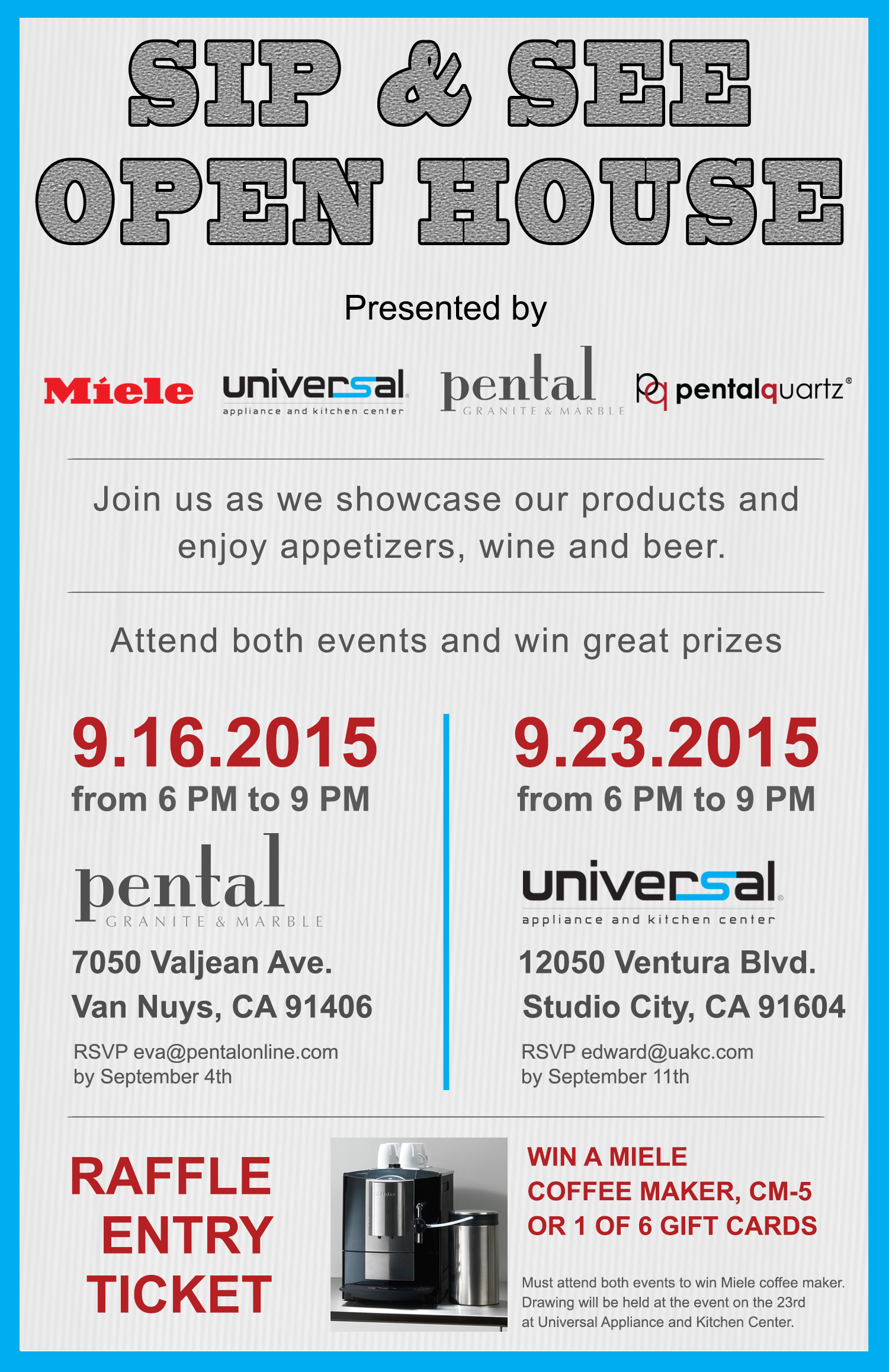 Sip & See Open House @ Universal Appliance and Kitchen Center | Los Angeles | California | United States
