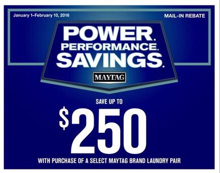 Maytag Laundry Rebate