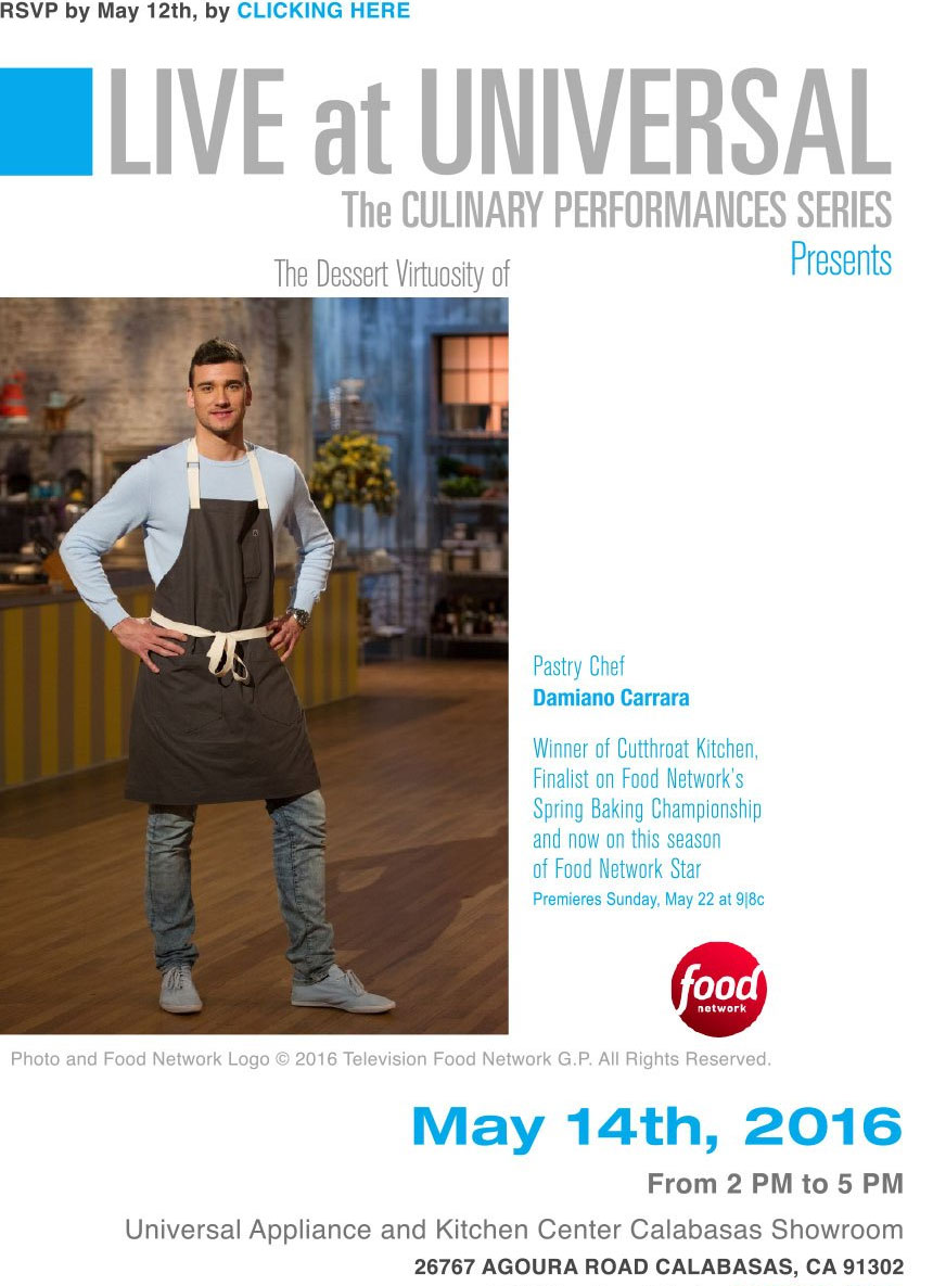 Live at Universal - The Culinary Performance Series Presents.. @ Universal Appliance and Kitchen Center | Calabasas | California | United States