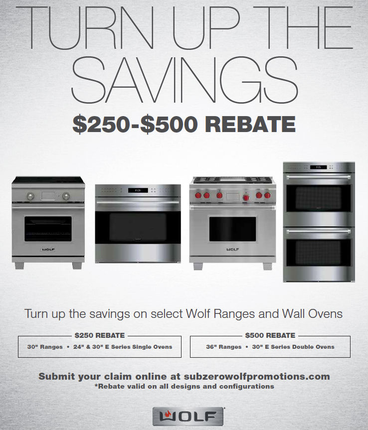 """Universal Turns Up The Heat With Wolf's """"Turn Up The Savings"""" Rebates: Get Up To $500 Rebate On Select Ranges & Wall Ovens"""