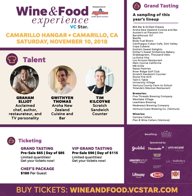 Universal Appliance and Kitchen Center and Thermador to sponsor the Wine Food Experience VC STAR in Camarillo this Saturday November 10th 2018