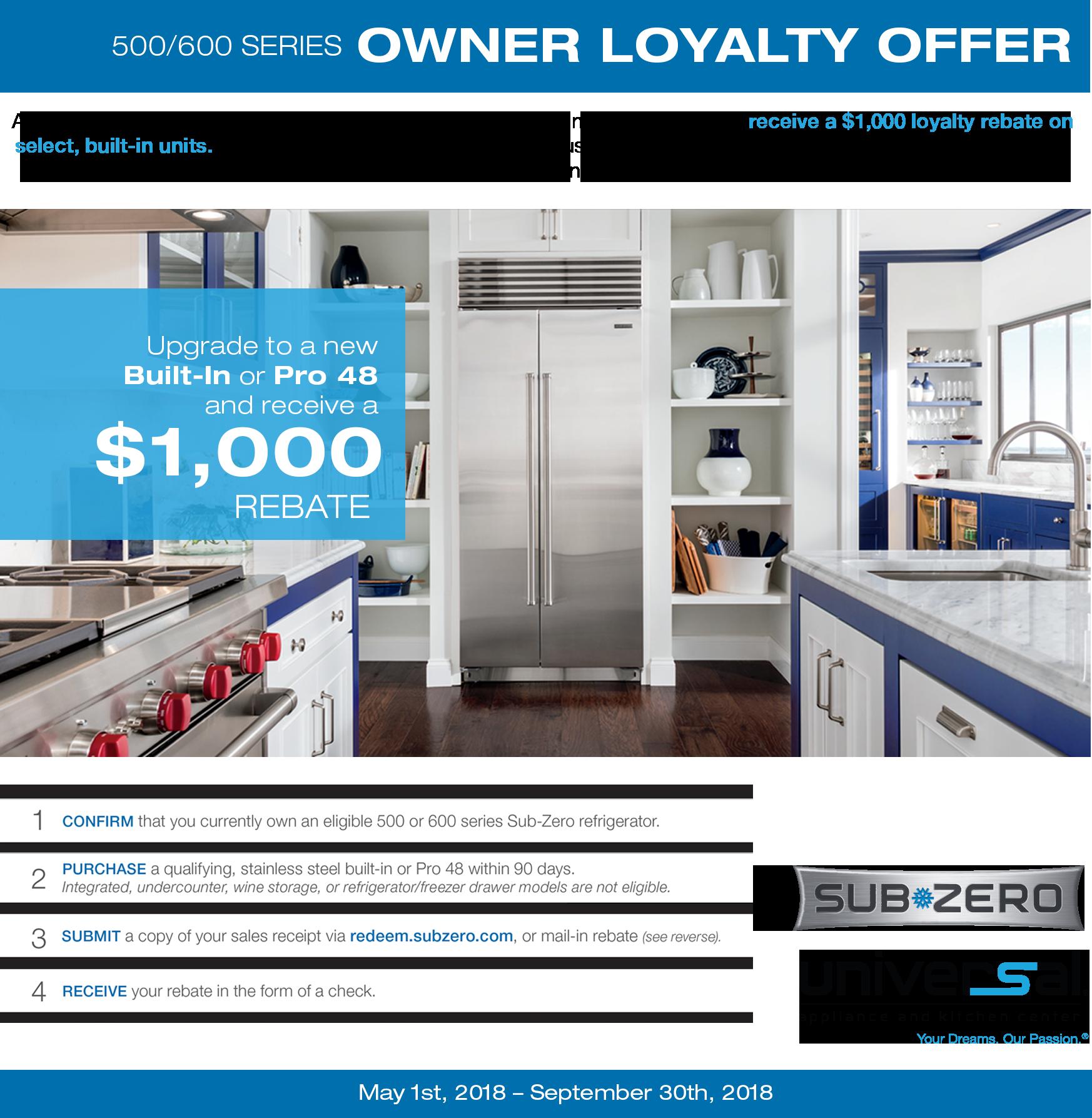 Universal Liance And Kitchen Center Boasts A Great Range Of Sub Zero Refrigerators Freezers Providing The Storage E Your Needs