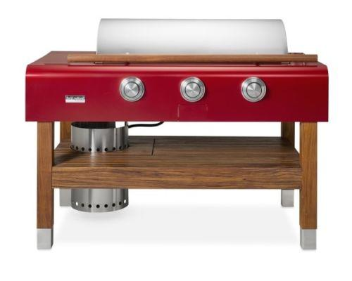 CaliberCaliber 60'' Rockwell Grill Wood Base, Aircraft-Grade Aluminum - Red, Liquid Propane
