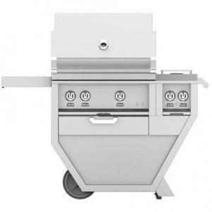 HestanHestan 48&quot Freestanding Deluxe Grill with Double Side Burner, Trellis, Sear And Rotisserie