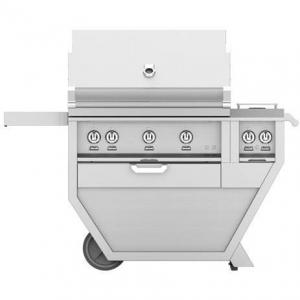 HestanHestan 54&quot Freestanding Deluxe Grill with Double Side Burner, (2) Trellis, Sear, Rotisserie
