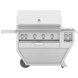 HestanHestan 60&quot Freestanding Deluxe Grill with Double Side Burner, (3) Trellis, Sear, Rotisserie
