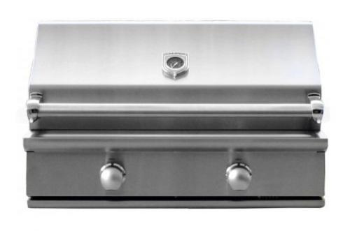 CaliberCaliber 35'' Crossflame Silver Series Grill with Stainless Steel Handle - Stainless Steel, Liquid Propane