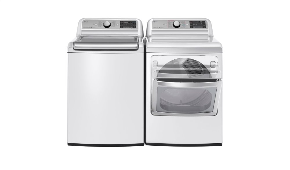 WT7500CW LG 5.2 Cu. Ft. TurboWash® Top Load Washer White DLGX7601WE LG 7.3 Cu. Ft. TurboSteam™ Gas Dryer with EasyLoad™ Door White at Universal Appliance and Kitchen Center
