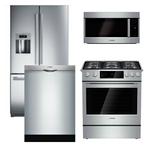 Bosch Appliance Package - 4 Piece Appliance Package with Gas Range - Stainless Steel at Universal Appliance and Kitchen Center